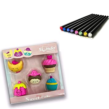Awe Inspiring Shoppers Stoppers Cake Shaped Eraser Set Of 5 And Crystal Head Funny Birthday Cards Online Benoljebrpdamsfinfo