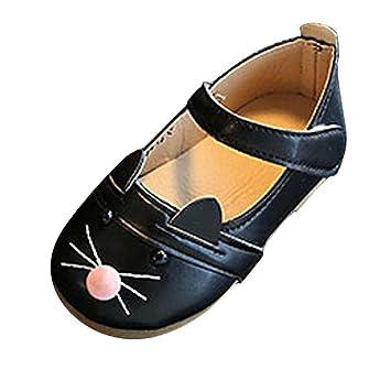Cssd Fashion Kids {bebé niña} {Kitty patrón} diseño princesa baile zapatos de piel de nobuk {} {solo}: Amazon.es: Jardín
