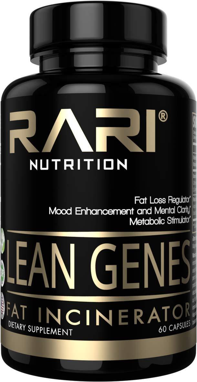 RARI Nutrition - Lean Genes - 100% Natural Fat Burner and Appetite Suppressant - Mood Enhancement - Men and Women - Keto and Vegan Friendly - No Shakes or Jitters - Vegetable Capsules - 60 Count