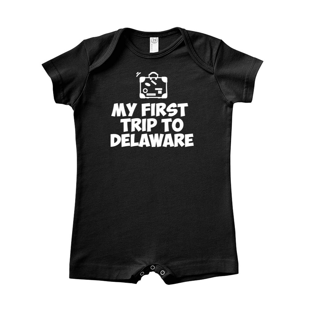 Mashed Clothing My First Trip to Delaware Baby Romper