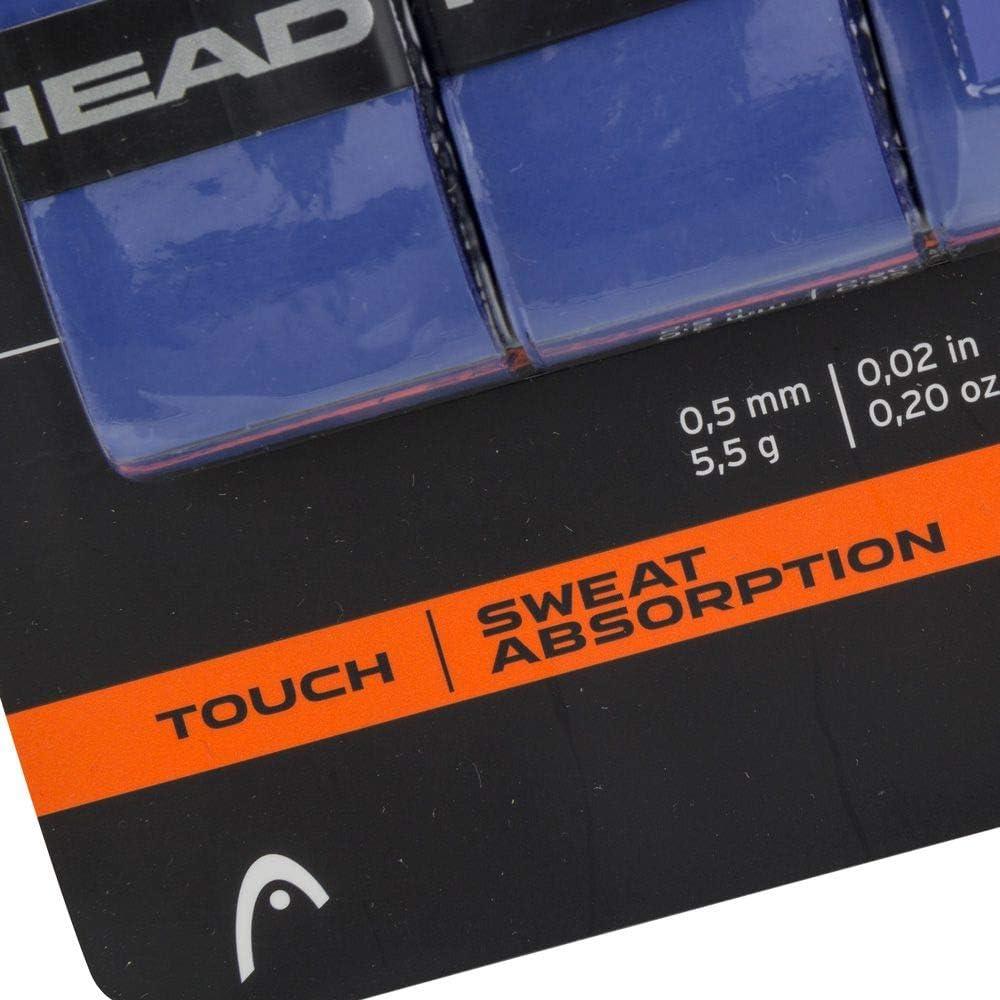 3-Pack HEAD Black Racquet Overgrip Tennis Racket Grip Tape