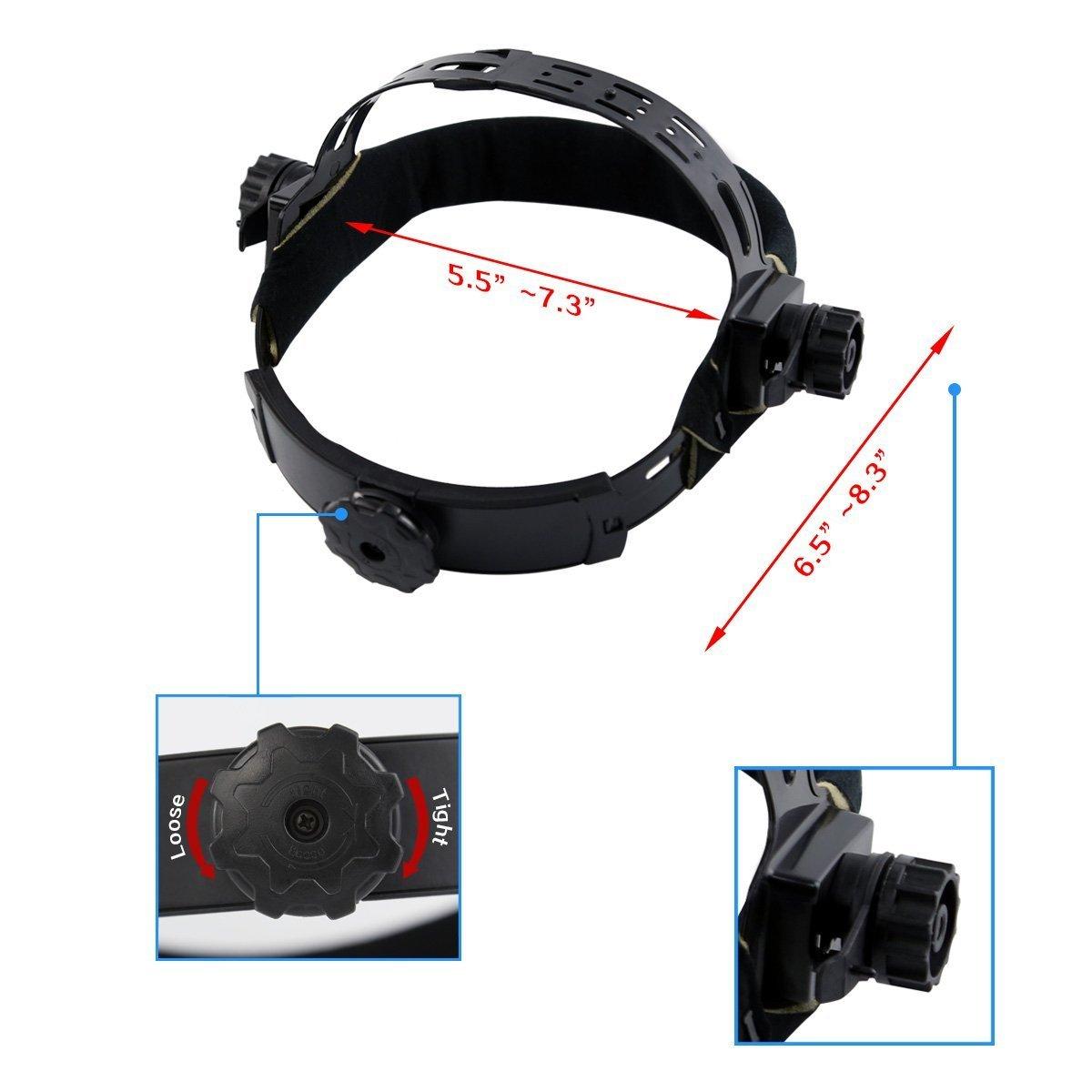 DEKOPRO Auto Darkening Solar Welding Helmet ARC TIG MIG Weld Welder Lens Grinding Mask New Black Design by DEKOPRO (Image #4)