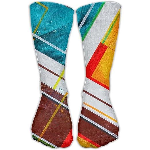 Unisex Tube Socks Crew Abstract Pattern Soccer Comfort Over The Calf Stockings for Sport and Travel Socks Fan Shop