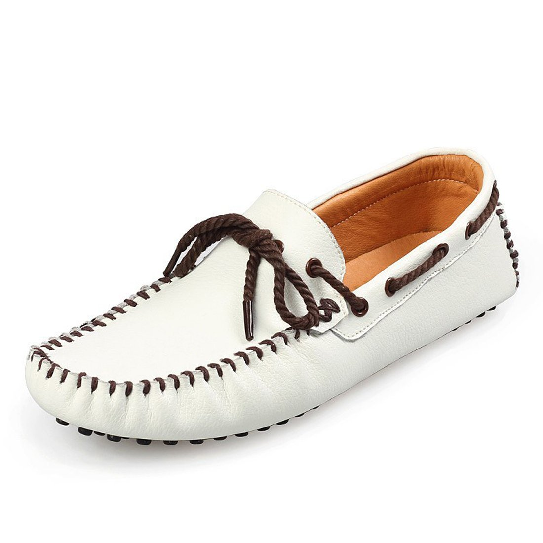 suzanne vega Mens Genuine Leather Casual Leisure Oxfords No-Slip Loafer Driving Moccasins Shoes