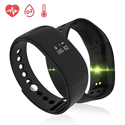 Fitness Tracker, Remote Control Camera Smart Watch,Pedometer Calorie Counter,Sleep Heart Rate Blood Pressure Monitor, IP67 Waterproof Smart Sport ...