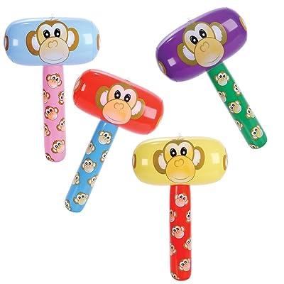 Monkey Mallet Inflates (1 dz): Toys & Games