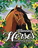Stunning Horses Coloring Book: An Adult Coloring Book Featuring Wild Horses, Beautiful Country Scenes and Calming Mountain Landscapes by Coloring  Book Cafe