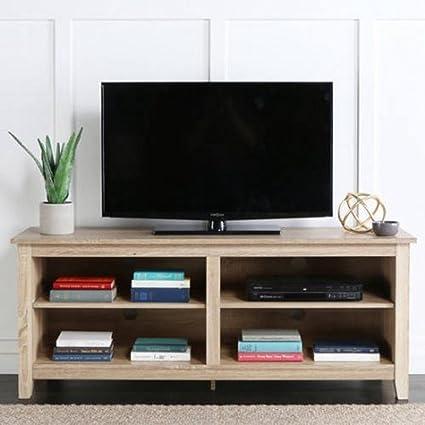 Amazon Com Kissemoji Tall Tv Media Stand Wood Tv Stand For Tvs Up