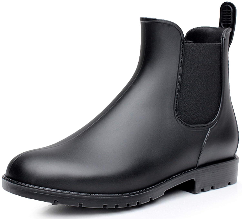 Nzcm Chelsea Stivali da Pioggia in Gomma per Unisex Adulto, Impermeabile, Taglia 35 43