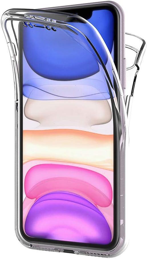 360 de Carcasa Completa para m/óvil Trasera Transparente Frontal Funda para Apple iPhone 11 Silicona