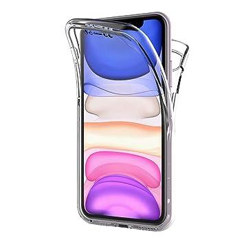 AICEK Funda Compatible iPhone 11, Transparente Silicona 360°Full Body Fundas para iPhone 11 Carcasa Silicona Funda Case (6,1 Pulgadas)