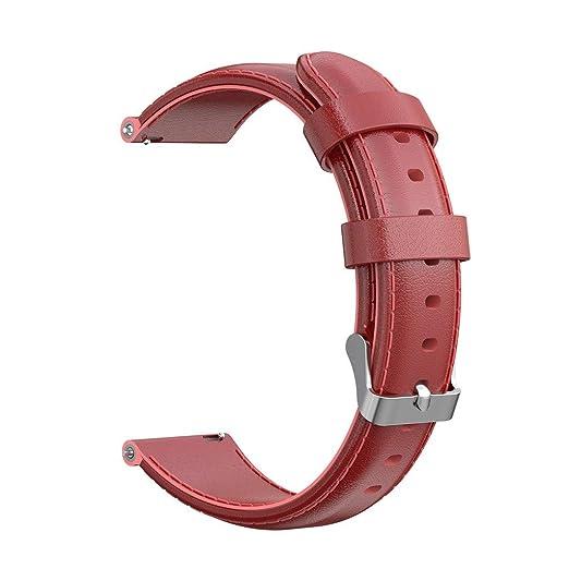 SHSH Correa de repuesto de cuero para reloj inteligente ...