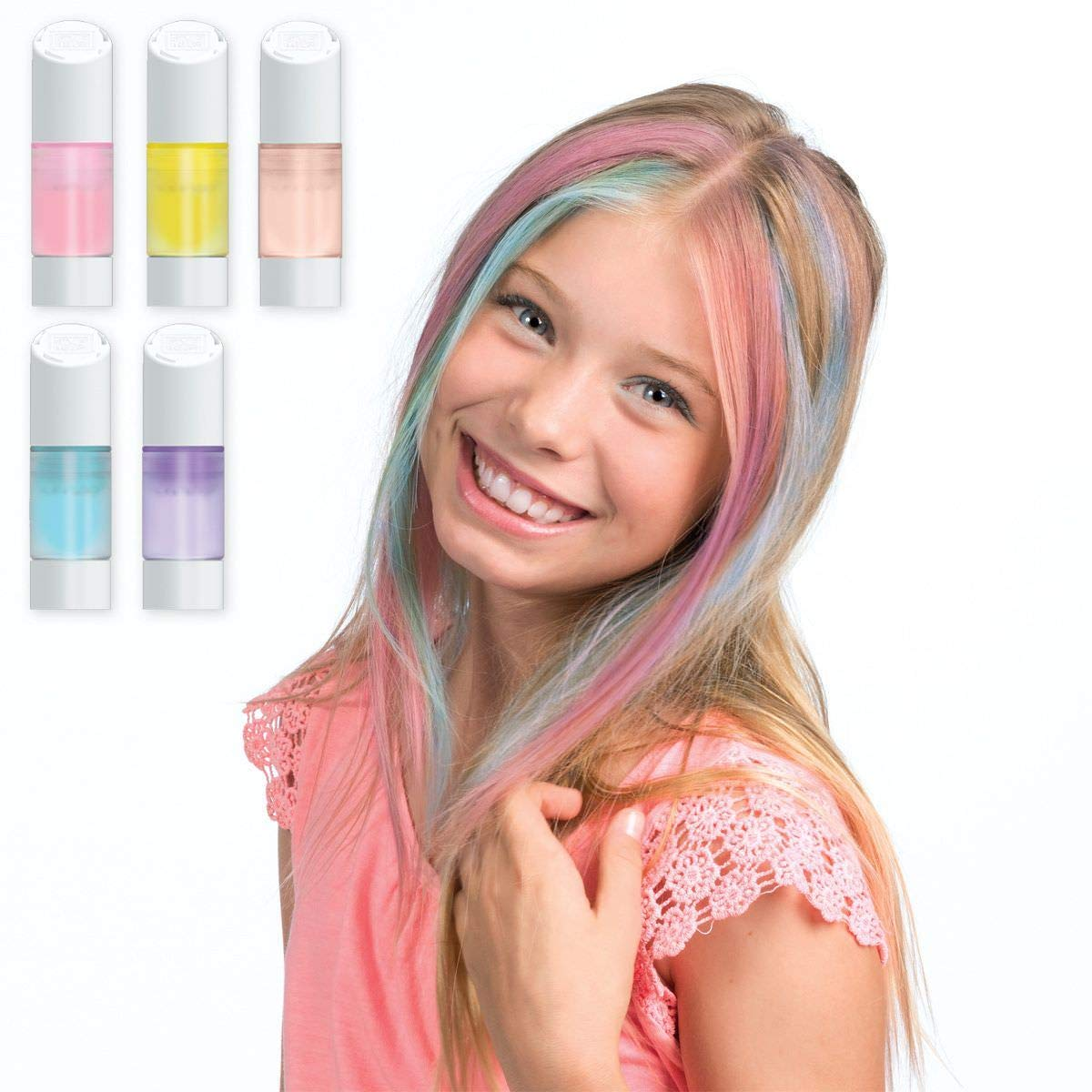 Style Me Up - Girls Hair Chalk Set - Temporary Hair Dye for ...