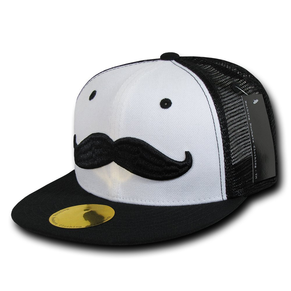 Nothing Nowhere Mustache by NN Cap, Black