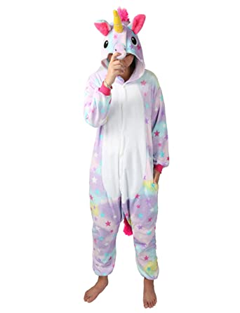Unicornio Jumpsuit Traje de Dormir para Mujer Unicornio Disfraz ...