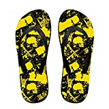 Yellow Hip Hop Skull Flip Flops Fashion Sandals Multicolored Beach Slippers For Men Women