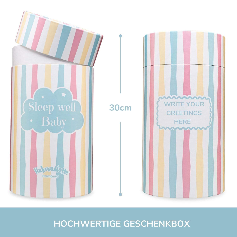 100x80cm Geschenk zur Geburt Flauschige Babydecke hochwertige Geschenkbox