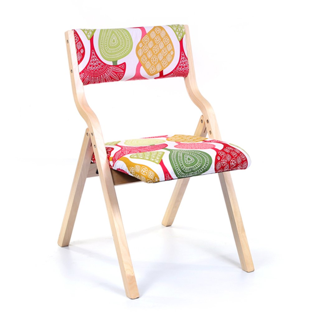 G Chair - Folding Stool, Home Back Chair, Modern Minimalist Dining Chair Wooden Desk Chair seat Cover Removable 48.5  46  78.5cm (color   C)
