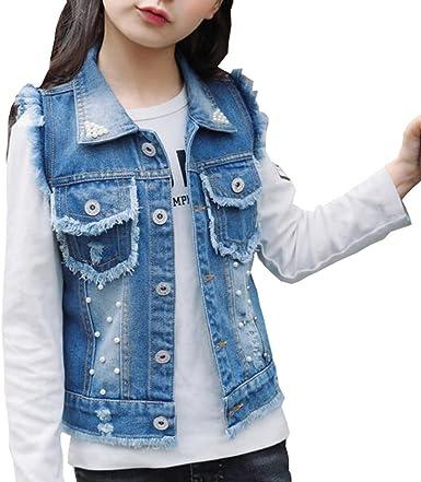 Little Boys Spring Autumn Denim Vest Jacket Waistcoat Top