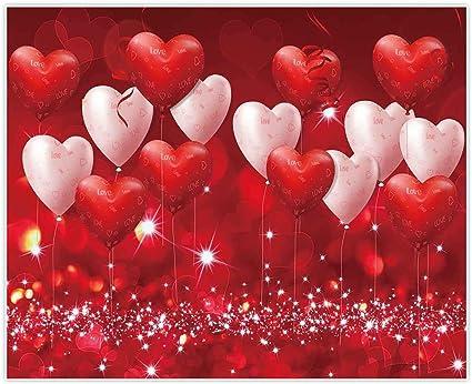 Allenjoy 3 X 2 4 M Valentinstag Hintergrund Rote Herzen Kamera