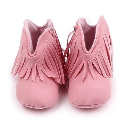 COMVIP Bébé Fille Garçon Vogue Chaussure Premier Pas avec Franges Coton
