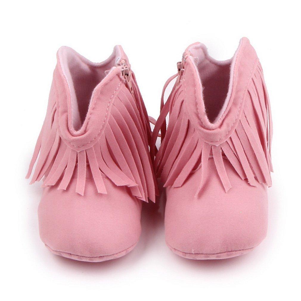 Matt Keely Baby Tassel Cowboy Boots Infant Zip Soft Sole Shoes Booties