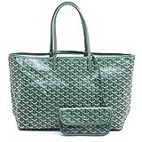 LOYEOY Large Tote Purse Classic Travel & Shopping Top Handle Handbags Shoulder Bags for Women(GreenGM)