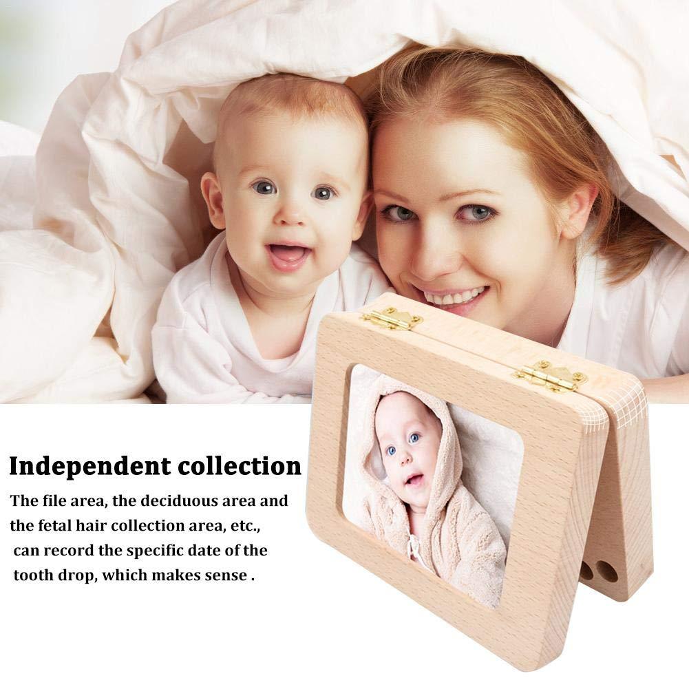 funnyfeng Baby Zahn Box Handgemachtes Rechteckiges Milchzahn-Aufbewahrungs K/ästchen Aus Holz F/ür Kinder Z/ähne Haltbarer Sicherer Organizer newcomer