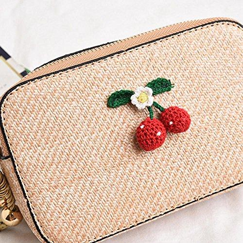 Sac CampHiking Style Sac Paille bohème Khaki nbsp; décoratif en 7qw7xOr