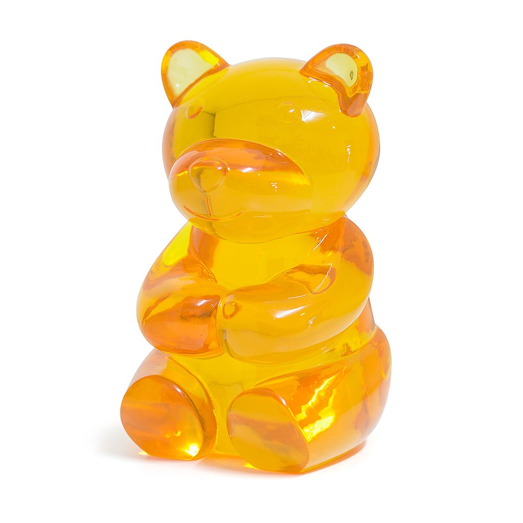 Balvi sujeta Libros Yummy Bear Color Amarillo En Forma de Osito de gominola Decora tu estanterí a Protege Tus Libros Polyresina 17&nbsp