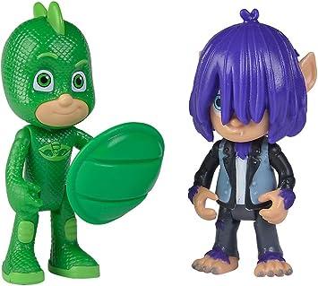 Simba 109402224 PJ Masks - Juego de Figuras de Gecko con Kevin, Unisex para niños