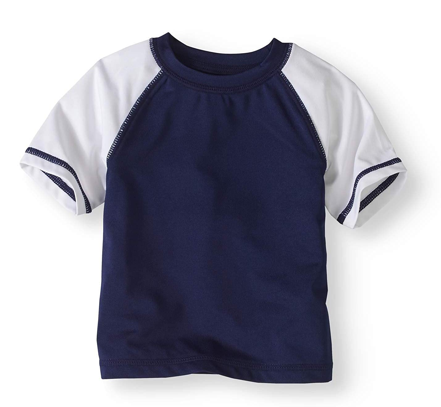 Healthtex Baby Boys Navy Blue Rash Guard Shirt Top