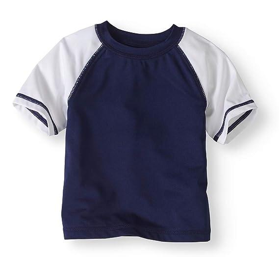 205a2c7ed Amazon.com: Healthtex Baby Boys Navy Blue Rash Guard Shirt Top: Clothing