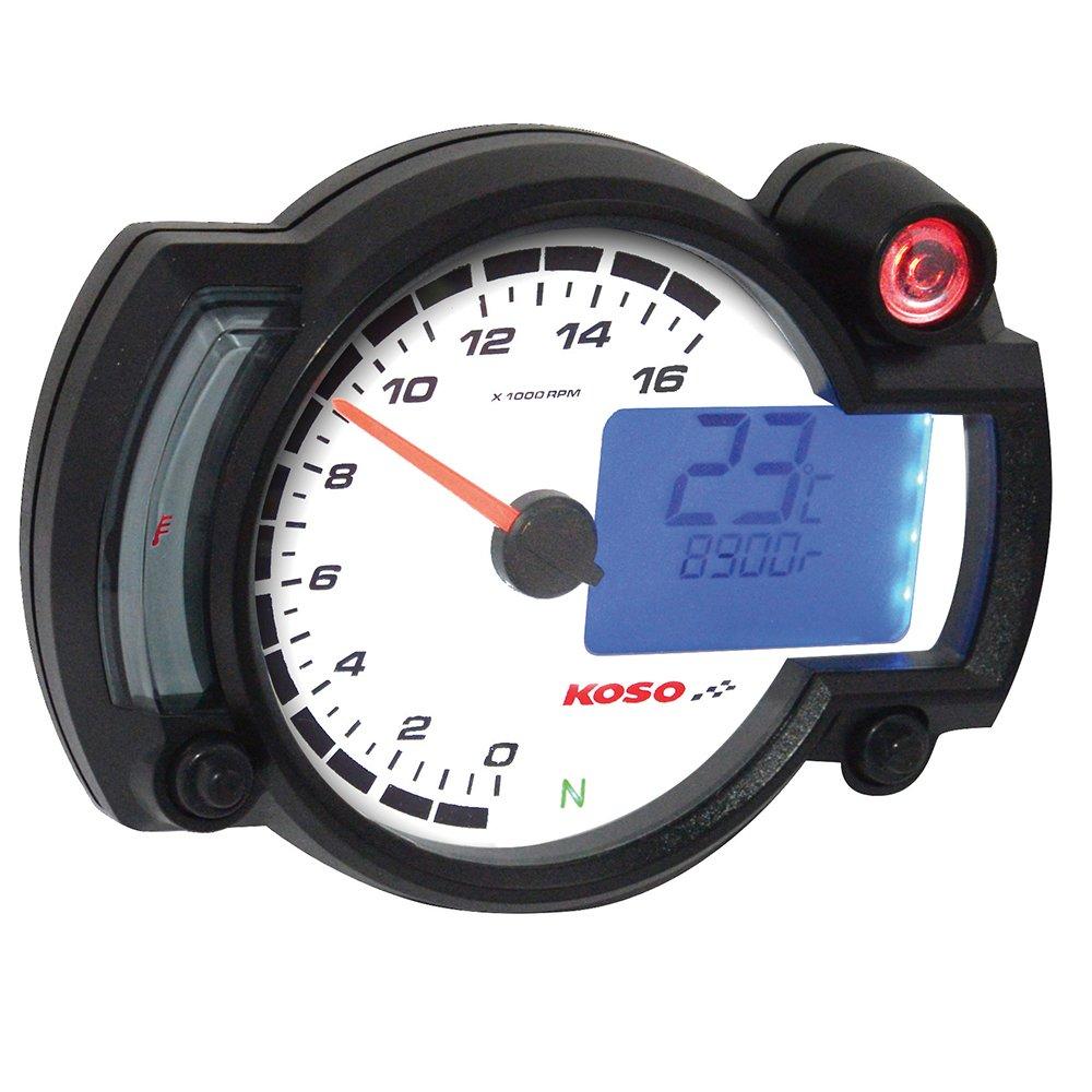 Koso BA015000 RX-2NR GP Style Tachometer (16 000 RPM)