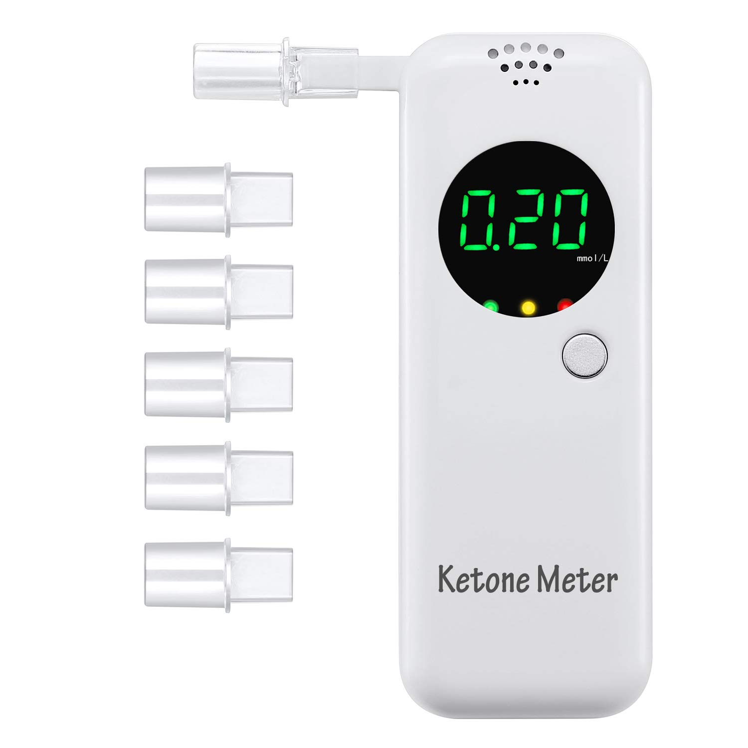 Anntoo Ketone Meter Ketone Testing Kit with 5Pcs Replaceable Mouthpieces