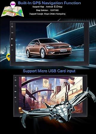 Cámara gratuita como regalos último Android 6.0 estéreo para coche con GPS doble Din navegación 7 pulgadas pantalla táctil completa vehículo radio 1080P ...