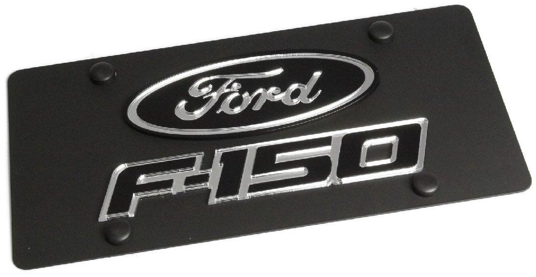 Eurosport Daytona Stainless Steel 2009 Ford Black Oval F50 Badge License Plate Frame 3D Novelty