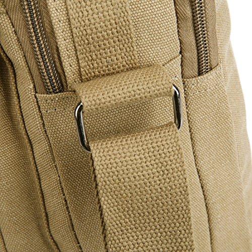 Männer Jahrgang Leinwand Schulter Aktentasche Messenger Tote Schulranzen Reisen Tasche,A-23cm*10cm*27cm