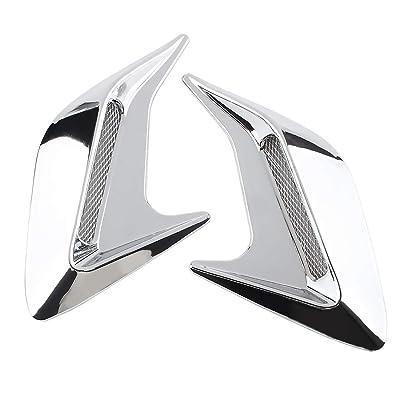 Andux Land Car Vent Grille Cover Decorative Air Flow Intake 2pcs JFK-02 (Silver plating): Automotive