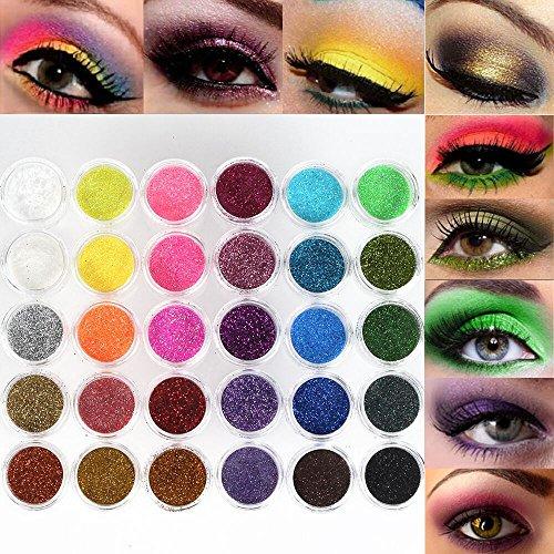 Neverland Professionelle 30 Mixed-Farben-Funkeln Mineral Lidschatten Augen Make-up Lidschatten Pigmente Powder