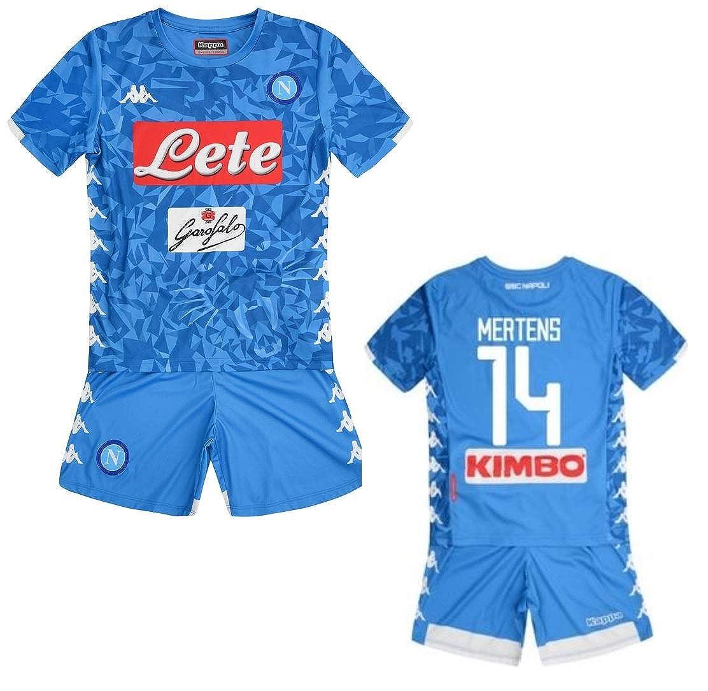Kappa SSC Napoli Mertens Junior Home Kit 2018-2019 Original