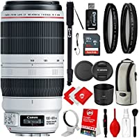Canon EF 100-400mm f/4.5-5.6L IS II USM Lens with 67 Monopod, UV/CPL Filters and Bundle Accessory