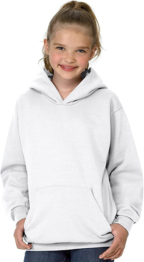 Hanes Youth 7.8 oz. ComfortBlend EcoSmart 50/50 Pullover Hood: Clothing