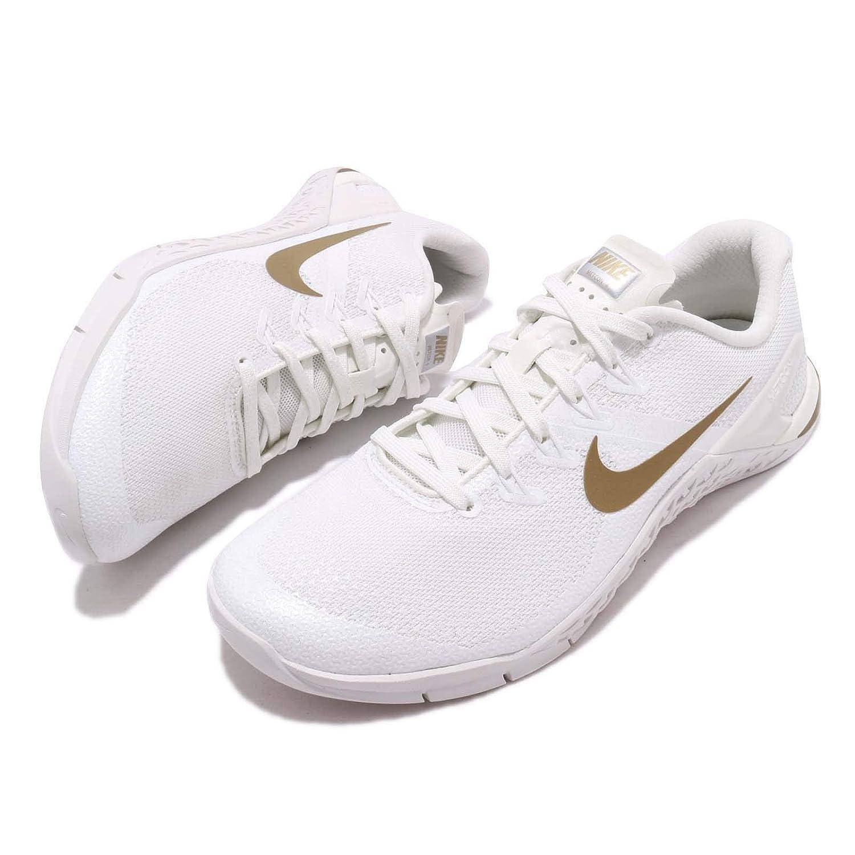 Nike Womens Metcon 4 Champagne Blanco/Oro Fitness/Entrenamiento: Amazon.es: Deportes y aire libre