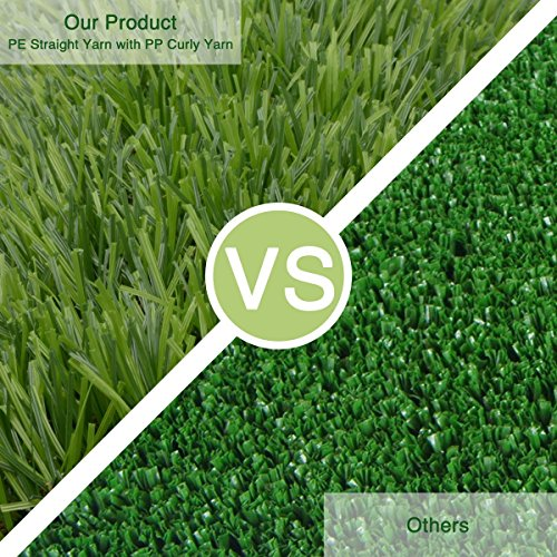 Synthetic Turf Artificial Lawn Grass Indoor Outdoor Premium Realistic Landscape (6.5 ft X 13 ft = 84.5 sqf) by CBEC (Image #4)