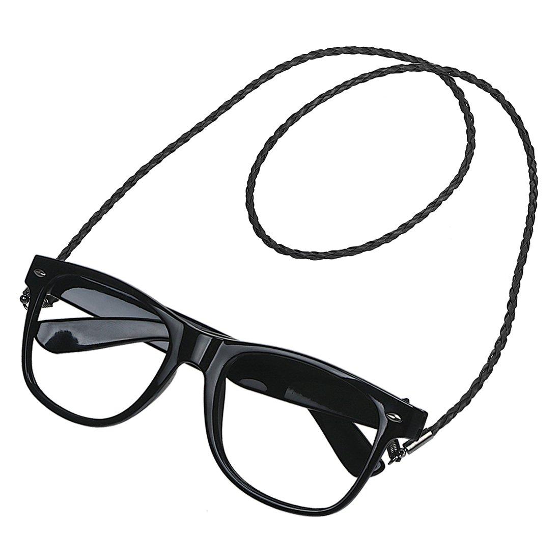 Xidan CFL Premium in pelle morbida PU treccia occhiali da sole catene cordino cordoncino