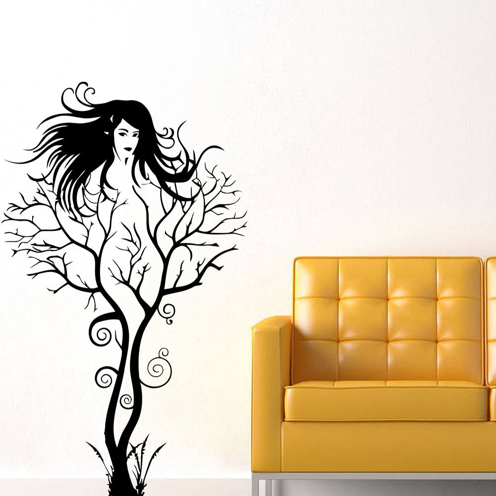 Amazon.com: Creative Sexy Girl Tree Removable Wall Sticker Decal Home Decor  Vinyl Mural Art 1pcs: Cell Phones U0026 Accessories Part 85