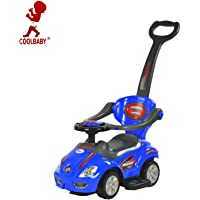 COOLBABY 3-In-4 Activity Ride-On Toy for Unisex Baby Walker,Blue