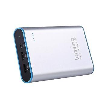 Lumsing Batería externa 13400mAh, Cargador portátil externo, Power bank para iPhones, iPads, Samsung Galaxy, Android y otros Smartphones (gris)