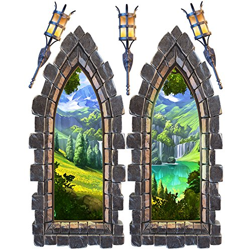 Castle Window Large Wall Decal Set -